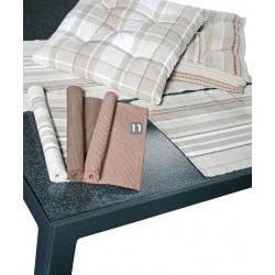 Prostírání jednobarevné strukturované, 100% bavlna, set 2 ks, des. 818 světle hnědá