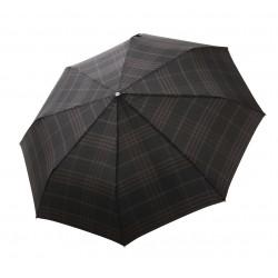 Gran Turismo Check Black - pánsky plne automatický skladací dáždnik