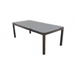 SALERNO - hliníkový záhradný stôl 150x90x74 cm