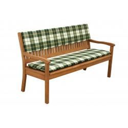 Opěrka na lavici 3sed 150x30x6 cm