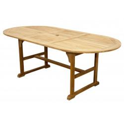Stôl Teak rozkladací ovál 150 / 200x100 cm