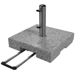 TROLLEY 70 kg - žulový pojazdný stojan pre slnečníky
