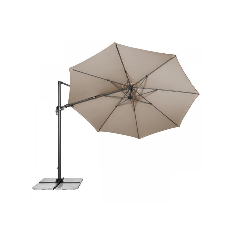RAVENNA 330 cm - veľký záhradný výkyvný slnečník s bočnou tyčou