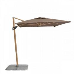 ALU WOOD 220 x 300 cm - záhradný slnečník s bočnou tyčou