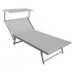 Ležadlo pre 2 osoby Doppelliege Alu šedé