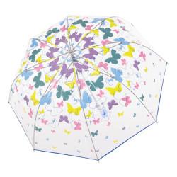 Lang Fiber automatic transparent Spring - dámsky automatický transparentný dáždnik