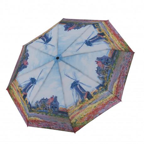 """Magic Mini Monet """"veterné mlyny"""" - dámsky plne automatický skladací dáždnik"""