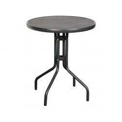 RAINBOW - oceľový stôl s keramickou doskou guľatý Ø 60cm