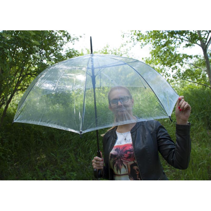 Hit Lang Automatik - dámsky automatický priehľadný dáždnik