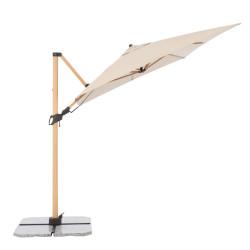 ALU WOOD 220 x 300 cm - záhradný naklápací bočný slnečník
