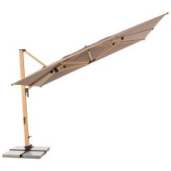 ALU WOOD XL 400 x 300 cm -  záhradný naklápací bočný slnečník