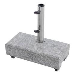 Žulový balkónový stojan 25 kg s úchytom a kolieskami