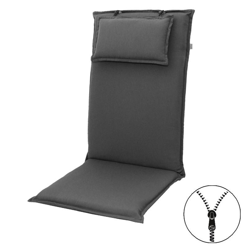 STAR UNI so zipsom 7777 vysoký - poduška na stoličku a kreslo s podhlavníkom