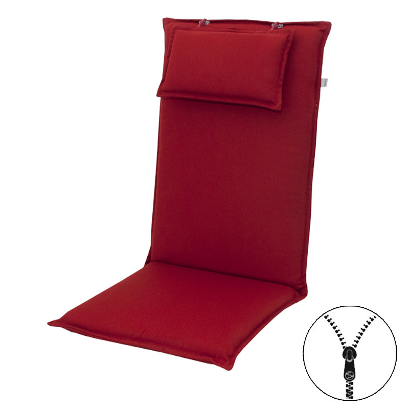 STAR UNI so zipsom 2994 vysoký - poduška na stoličku a kreslo s podhlavníkom