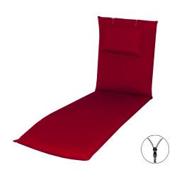 STAR UNI so zipsom 2994 - poduška na záhradné ležadlo s podhlavníkom