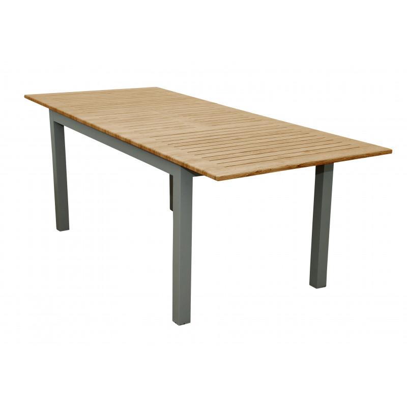 EXPERT WOOD - rozkladací hliníkový stôl 150 / 210x90x75 cm