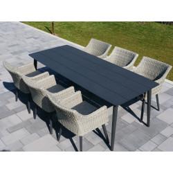 VERONA - hliníkové záhradné sedenie 6 + 1