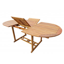 ATLAN - drevený rozkladací stôl 150 / 200x100x74 cm