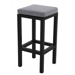 EXPERT antracit - gastro barová stolička s poduškou
