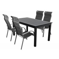 EXPERT MIAMI - hliníkové záhradné sedenie 4+1