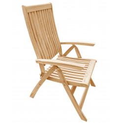 TECTONA - drevené polohovacie záhradné teakové kreslo