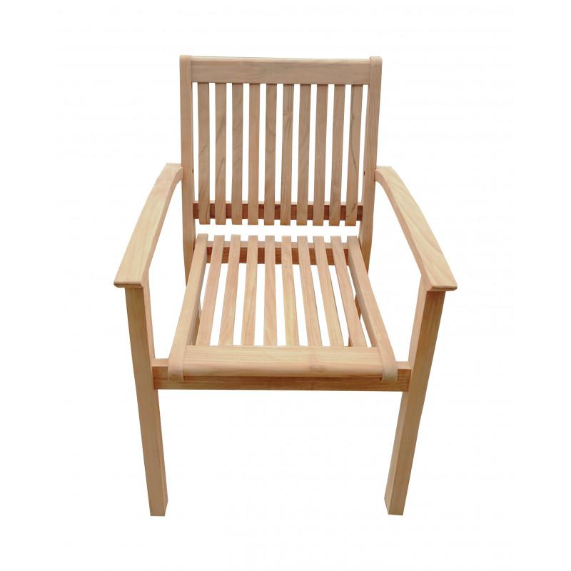 TECTONA  - drevené stohovacie záhradné kreslo