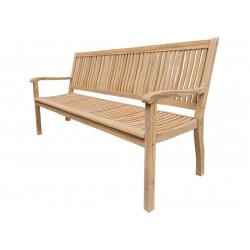 TECTONA - drevená záhradná teaková lavica 3 sedadlová