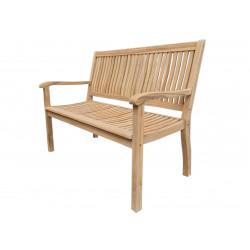 TECTONA - drevená záhradná teaková lavica 2 sedadlová