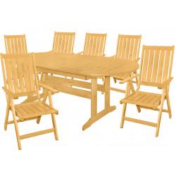DOVER - drevené záhradné sedenie 4 + 1