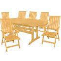 DOVER - drevené záhradné sedenie 6 + 1