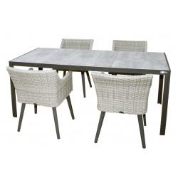 BERGAMO FLORENZ - hliníkové záhradné sedenie 4 + 1