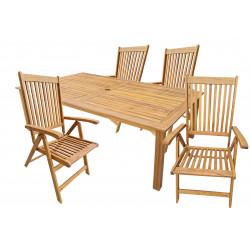 ATLAN - drevené záhradné sedenie 4 + 1
