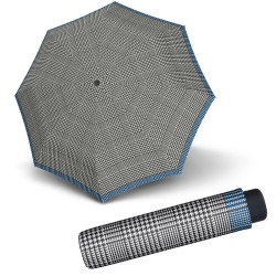 Mini Smart Glencheck senf - dámsky skladací dáždnik