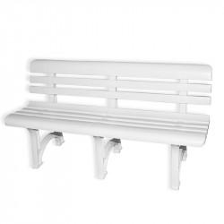 OLYMPIA - PVC záhradné lavice 150 cm biele
