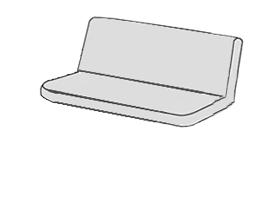 So zipsom (sedák a opierka vcelku)